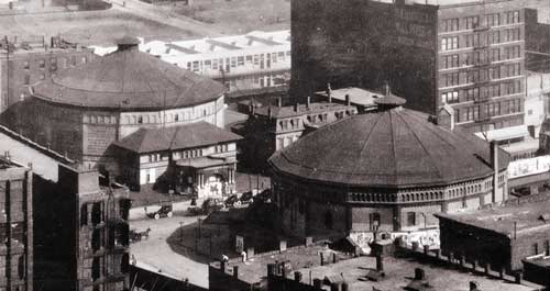 Two Cyclorama Buildings.